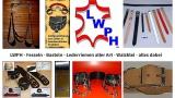 Lederleine Führungsleine Halteriemen 2,0 cm x110,0 cm mit Schlaufe und Wirbel-Karabinerhaken in verschiedenen Farben von LWPH