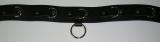 BDSM Taillengurt Lederriemen mit 6 D-Ringen, Klemmschutz 5,0 cm breit und zusätzlichen O-Ring