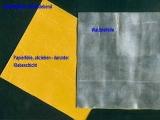 Walzblei, Bleifolie 15 cm x 15 cm x 1,0 + 0,5 mm stark Bleiplatten einseitig selbstklebend mit Schutzfolie