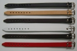 6 Lederarmbänder 1,4 cm glatt im Spar-Pack modische Qualität aus Echtem Leder in 6 Farben