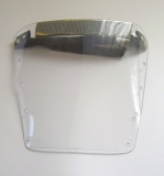 Hygiene Visier PVC-Visier Gesichtvisier Spuckabwehr Mund-Visier mit Gummiband doppelt vernietet abwaschbar leichte Handhabung