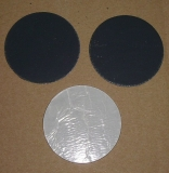 Runde Walzblei Blei-Scheiben 7,4 cm x 1,0 mm + 0,5 mm stark selbstklebende Bleifolie 50,0 Gramm