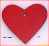 Lederherz ca. 6,0 x 5,5 cm in 6 Farben Herz zeigen für viele Verwendungsmöglichkeiten