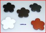 Unsere kleinen Blumen Blüten aus Leder ca. 3,0 x 3,0 cm in 6 Farben Streublumen, Bastelblüten