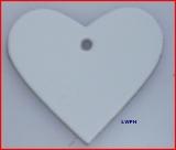 100 Lederherzen ca. 6,0 x 5,5 cm in 6 Farben Herz zeigen für viele Verwendungsmöglichkeiten
