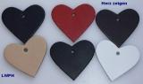 1000 Lederherzen ca. 6,0 x 5,5 cm in 6 Farben Herz zeigen für viele Verwendungsmöglichkeiten