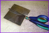 Walzblei, Bleifolie 22,0 cm x 10,0 cm groß 1,0 mm stark Bleiplatten einseitig selbstklebend mit Schutzfolie