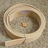 Lederriemen Gürtelleder Lederstreifen Natur ca. 200,0 cm x 2,0 cm breit x ca. 3,5 mm